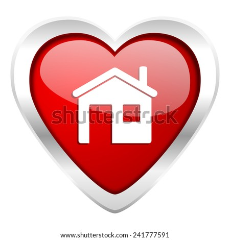 house valentine icon home sign  - stock photo