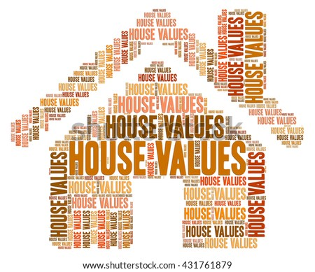 House Values Showing Current Prices And Houses - stock photo