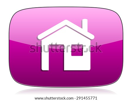 house violet icon home sign  - stock photo