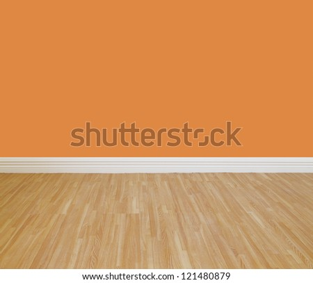 House wall painting with wooden tile floor.