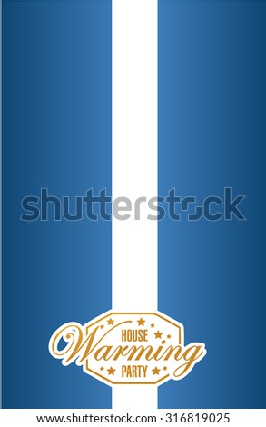 house warming party sign card background illustration design graphic - stock photo