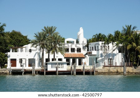 House waterside in Florida, USA