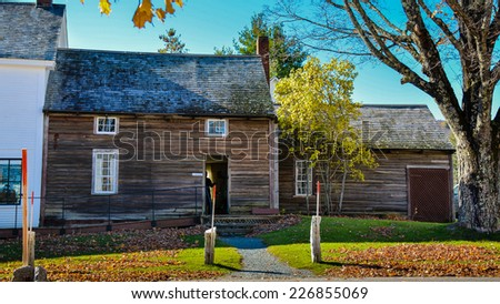 House Where US President Calvin Coolidge Was Born - Plymouth Notch, Vermont - stock photo