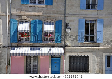 House windows in Provence