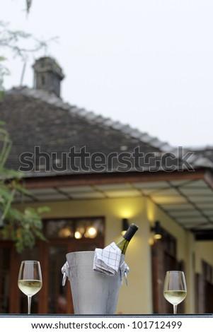 house wine - stock photo