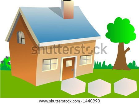 House with a tree