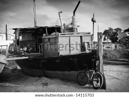 Houseboat - stock photo