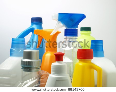 Household chemicals - stock photo