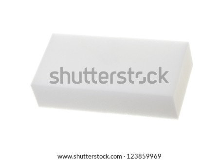 Household cleaning pad; isolated on white background