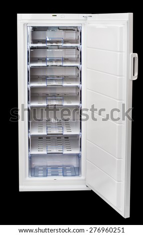 Household freezer drawers. isolated - stock photo