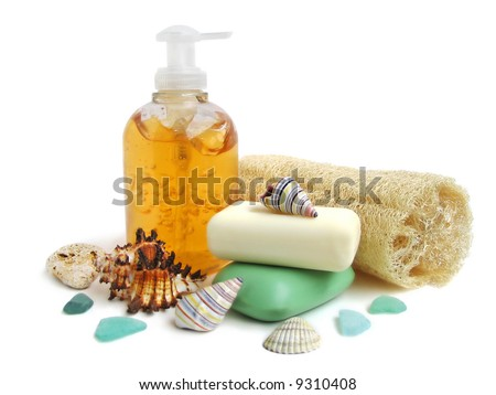 Household items for cleanliness - stock photo
