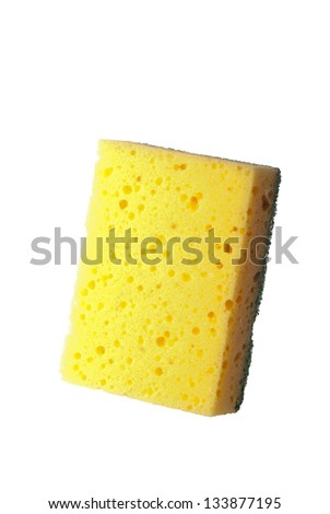 Household scourer isolated against a white background - stock photo