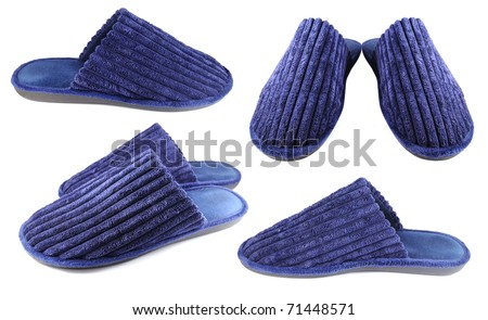 Household slippers for men - stock photo