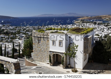 Houses in Bodrum Turkey - stock photo