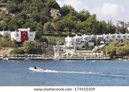 Houses in Bodrum Turkey - stock photo
