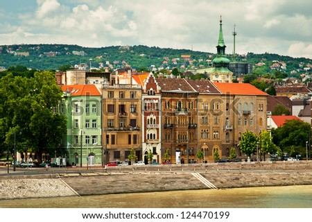 Houses in Budapest city - stock photo