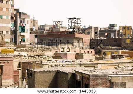 Houses in Cairo, Egypt - stock photo