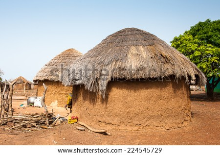 Houses in Ghana where the poor people live in