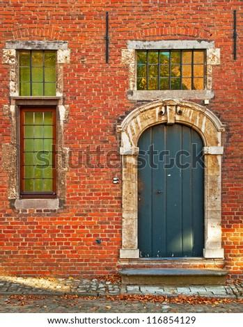 Houses in Leuven, Belgium - stock photo