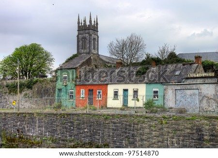 Houses in Limerick city - Ireland.