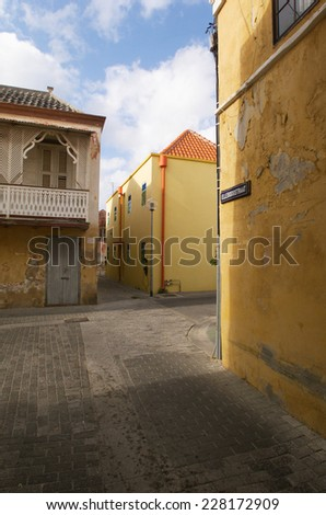 Houses in Otrobanda, Curacao - stock photo