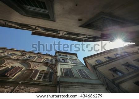Houses in Siena - stock photo