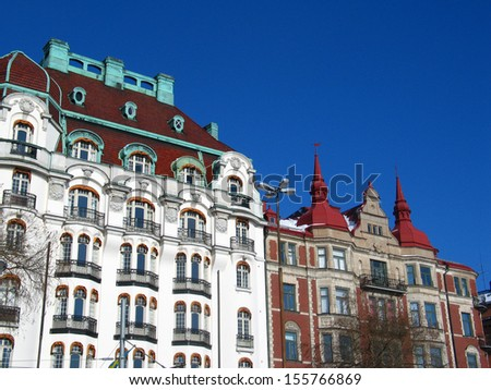 Houses in Stockholm old town, Sweden - stock photo