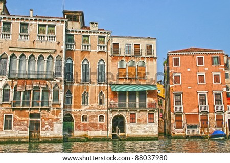 Houses in Venice, Italy - stock photo