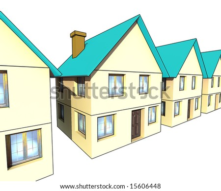 houses - isolated illustration