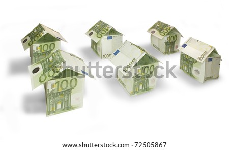 Houses made of hundred euro bills