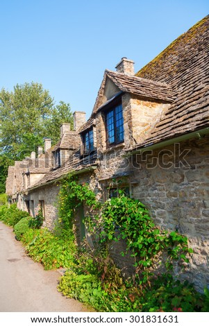 houses of Arlington Row in Bibury, Gloucestershire, England