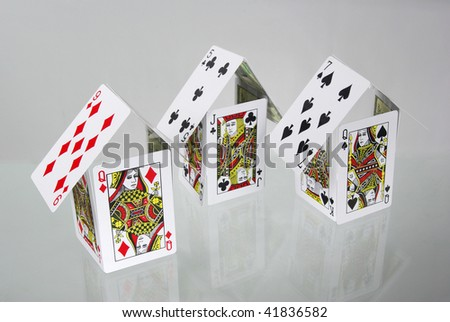 Houses of cards - stock photo
