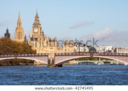 Houses of Parliament from Albert Embankment