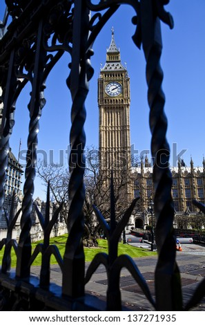 Houses of Parliament in London. - stock photo