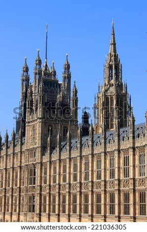 Houses of Parliament in London, England - stock photo