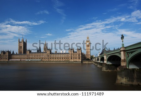 Houses of Parliament London - stock photo