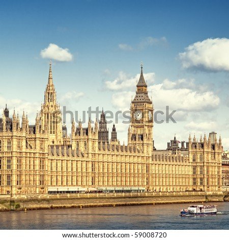 Houses of Parliament, London. - stock photo