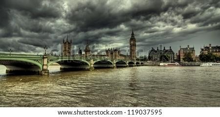 Houses of Parliament, London, UK - stock photo