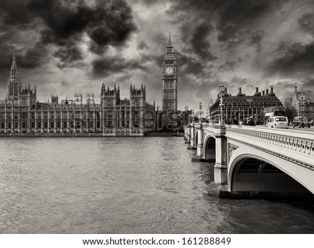 Houses of Parliament, Westminster Palace - London gothic architecture - UK