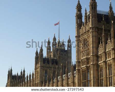 Houses of Parliament with Big Ben, Westminster Palace, London, UK