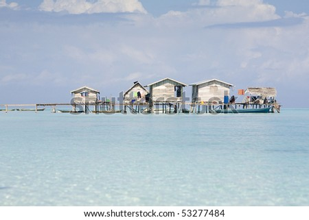 Houses of Sea Gypsies - stock photo