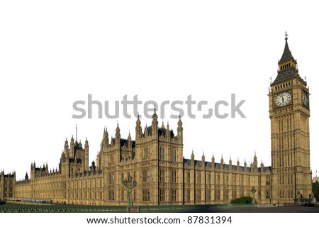 Houses of the Parliament in London - stock photo