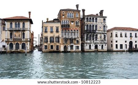 houses of venice - stock photo