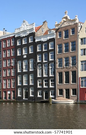 Houses on Amsterdam canal