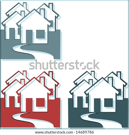 Houses One Missing For Many Concepts - stock photo