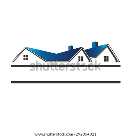 Houses roofs for real estate