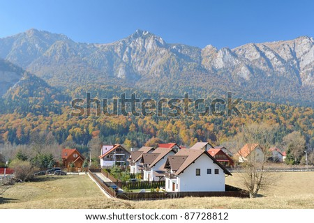 Houses under the mountains