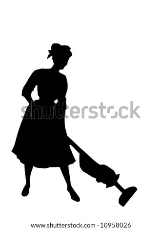 Housewife of the fifties - stock photo