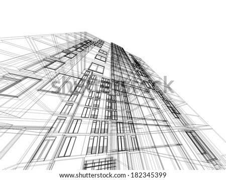housing architecture - stock photo
