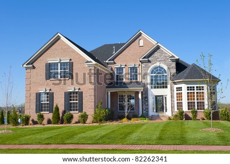 Housing boom is still going on in some areas, single family homes are selling fast - stock photo